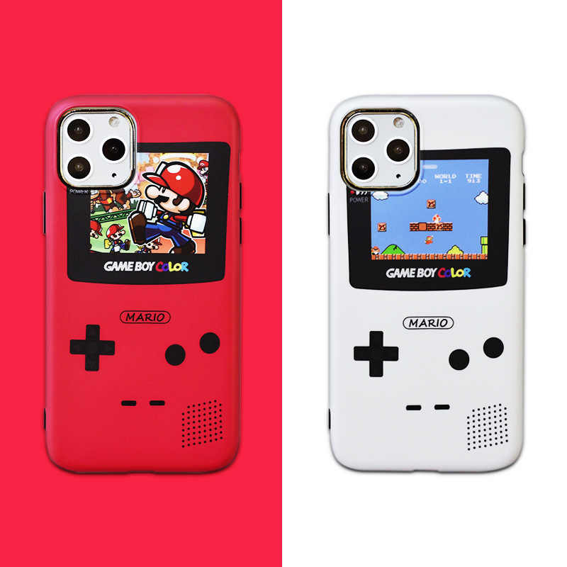 Retro Mario Game Phone Case For Iphone 11 11 Pro Max Super Mario Iphone X Xs Xr Creative Game Wallpaper 7 8 Plus Fitted Cases Aliexpress