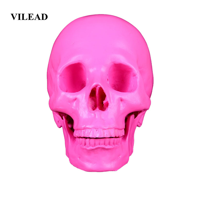 VILEAD 19cm Animal Skull Resin Crafts Horror Party Decoration Halloween Decor Fish Tank Waterscape Cave Personalized Decoration