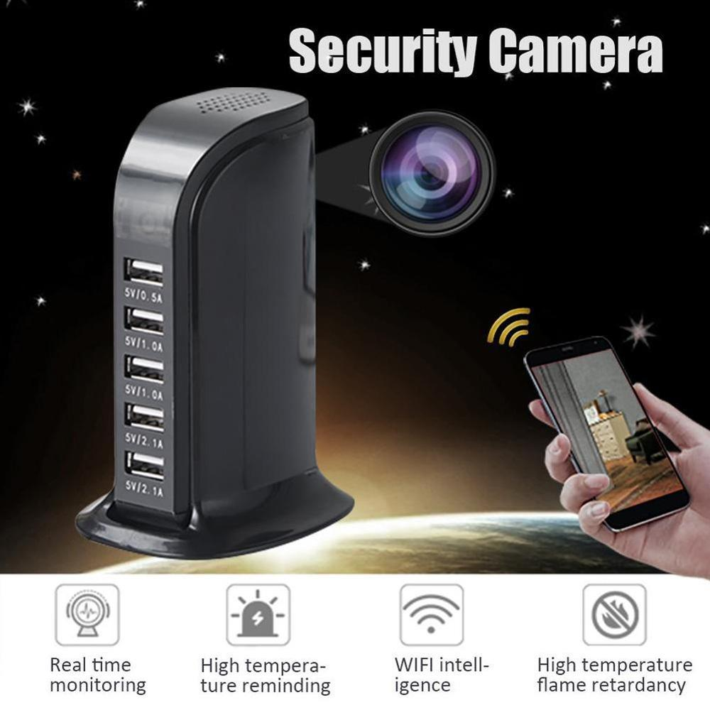 Wireless IP Camera Mini HD Camera 1080P Wifi Camera USB Charger Port Plug 5 Infrared Night Vision Security Surveillance Camera