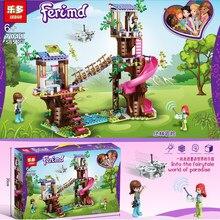 2020 novos amigos série selva base de resgate bom amigo série 41424 produtos menina montado blocos de construção brinquedo presente natal
