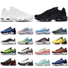 2021 tn mais se das mulheres dos homens correndo sapatos formadores triplo preto branco hyper azul real oreo brushstroke camuflemenoutdoorsports