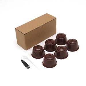 Image 2 - 6 pezzi adatti per filtri per Capsule di caffè riutilizzabili con tazza di filtro per caffè Dolce Gusto per Nespresso con accessori da cucina con spazzola a cucchiaio