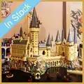 In Stock 16060 6044pcs Potter Movie Castle Magic school Model Set Building Blocks Bricks Children Toys christmas gifts 71043