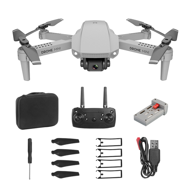 LSRC 2020 new mini drone E88 WIFI FPV, high-definition 4K 1080P camera height maintaining RC foldable quadrotor dron gift toy