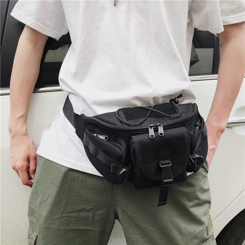 Multi-functional Hip-hop Tactics Fanny Pack Men Super Cool Cross Bag Large Capacity Men's And Women's Leisure Outdoor Sports Bag