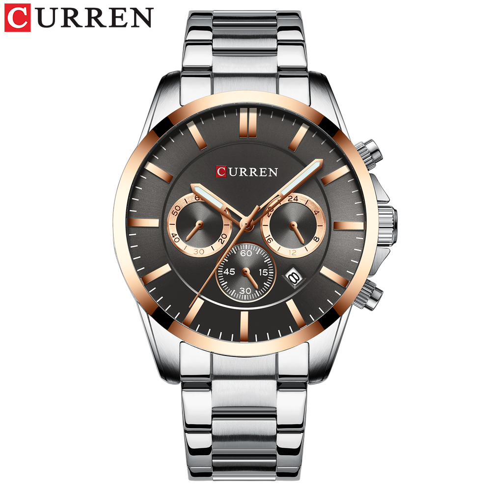 Image 2 - Reloj Hombres Luxury Brand CURREN Quartz Chronograph Watches Men Causal Clock Stainless Steel Band Wrist Watch Auto DateQuartz Watches   -