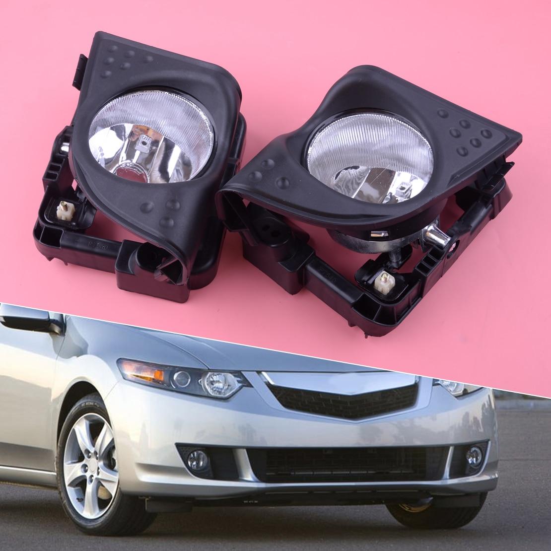 33900TL0A01 33950TL0A01 1 paire voiture gauche droite avant brouillard conduite lumière couvercle garniture cadre noir Fit pour Acura TSX 2009 2010