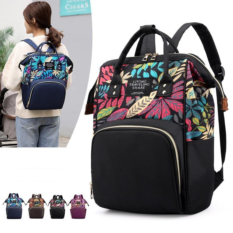 Baby Stroller Bag Fashion Mummy Maternity Nappy Bag Large Capacity Baby Bag Travel Backpack Designer Nursing Bag For Baby Care