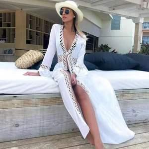 Купальный костюм для пляжа, для женщин, кафтан, купальный костюм, накидка, купальник, женский бикини, свободная юбка, хлопок, с солнцем, 2020, го...
