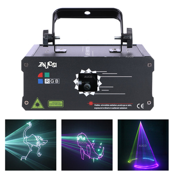 Stage Effect Lighting Luce DMX Colorful RGB Animation Scanner Laser Projector Lights DJ Disco Party Beam Light 30 KPPS 500mW 1W