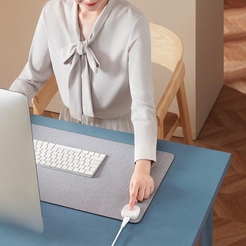 Теплый белый стол коврик, 3 скорости сенсорный Управление теплые Мышь Pad, держатель серии Extended, игровые Мышь коврик, Утеплитель для ног коври...