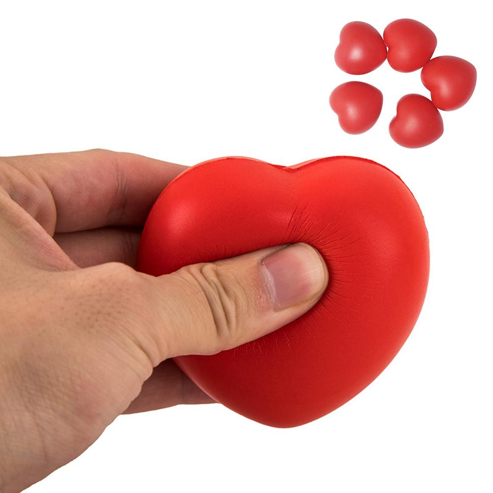 Funny Love Heart Ball Soft Slow Rising Stress Reliever Gag Squeeze Kids Toy