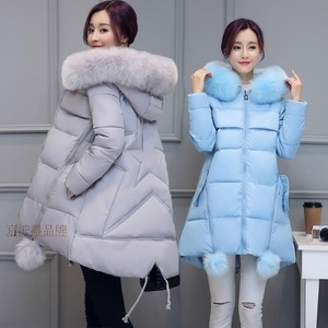 Winter Padded  Women Korean Version Thick Mid-Iength Iarge Size Hooded A-Iine Cloak Type  Fashion Jacket