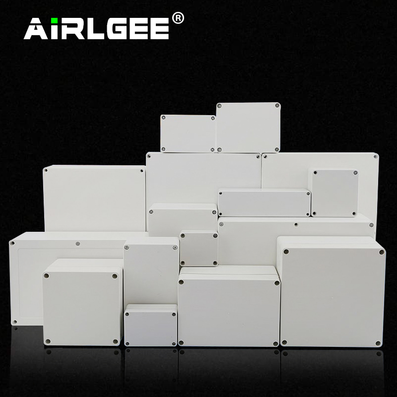 Economy F Series DIY Outdoor Monitoring Power Box Electrical Enclosure Case ABS Plastic Waterproof  Sealed Junction Wire Box