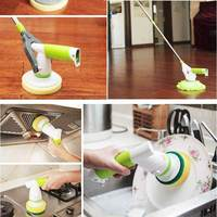 Upgrade Electric Spin Scrubber Turbo Scrub Cleaning Brush Cordless Chargeable Bathroom Cleaner with Extension Handle Brush Tub