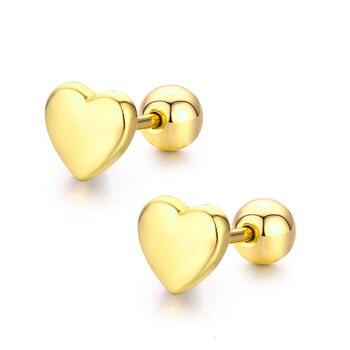 Cute Mini Small Peach Heart Screw Back Stud Earrings For Women Kids Baby Girls Rose Gold.jpg 350x350 - Cute Mini Small Peach Heart Screw Back Stud Earrings For Women Kids Baby Girls Rose Gold Color Piercing Jewelry Oorbellen Aros