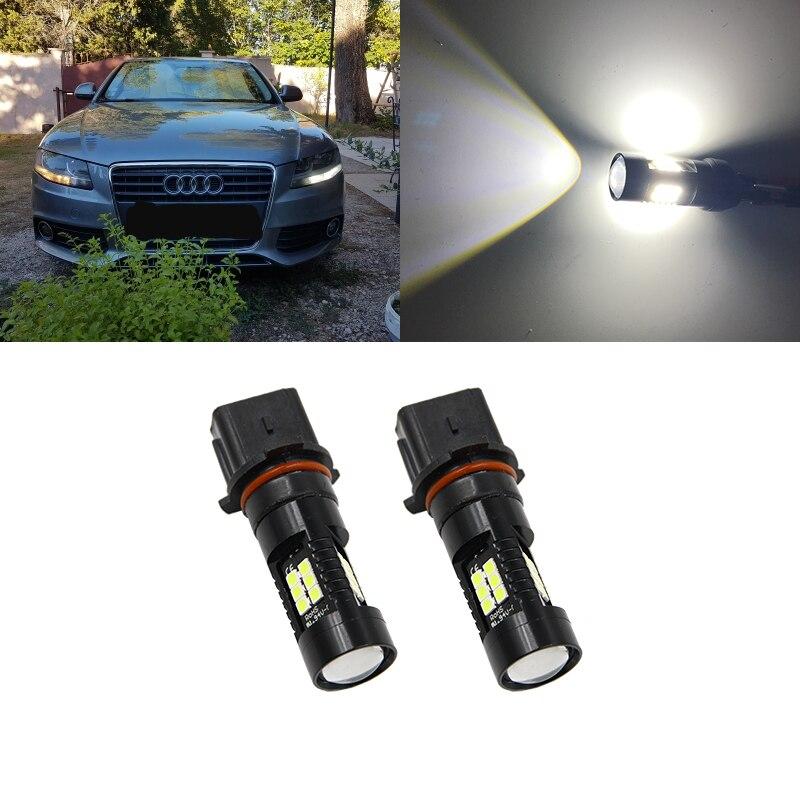 Авто P13W светодиодный без ошибок Canbus 21SMD-3030 SH24W светодиодный лампы для 2008-2012 Audi A4 Q5 дневные ходовые огни