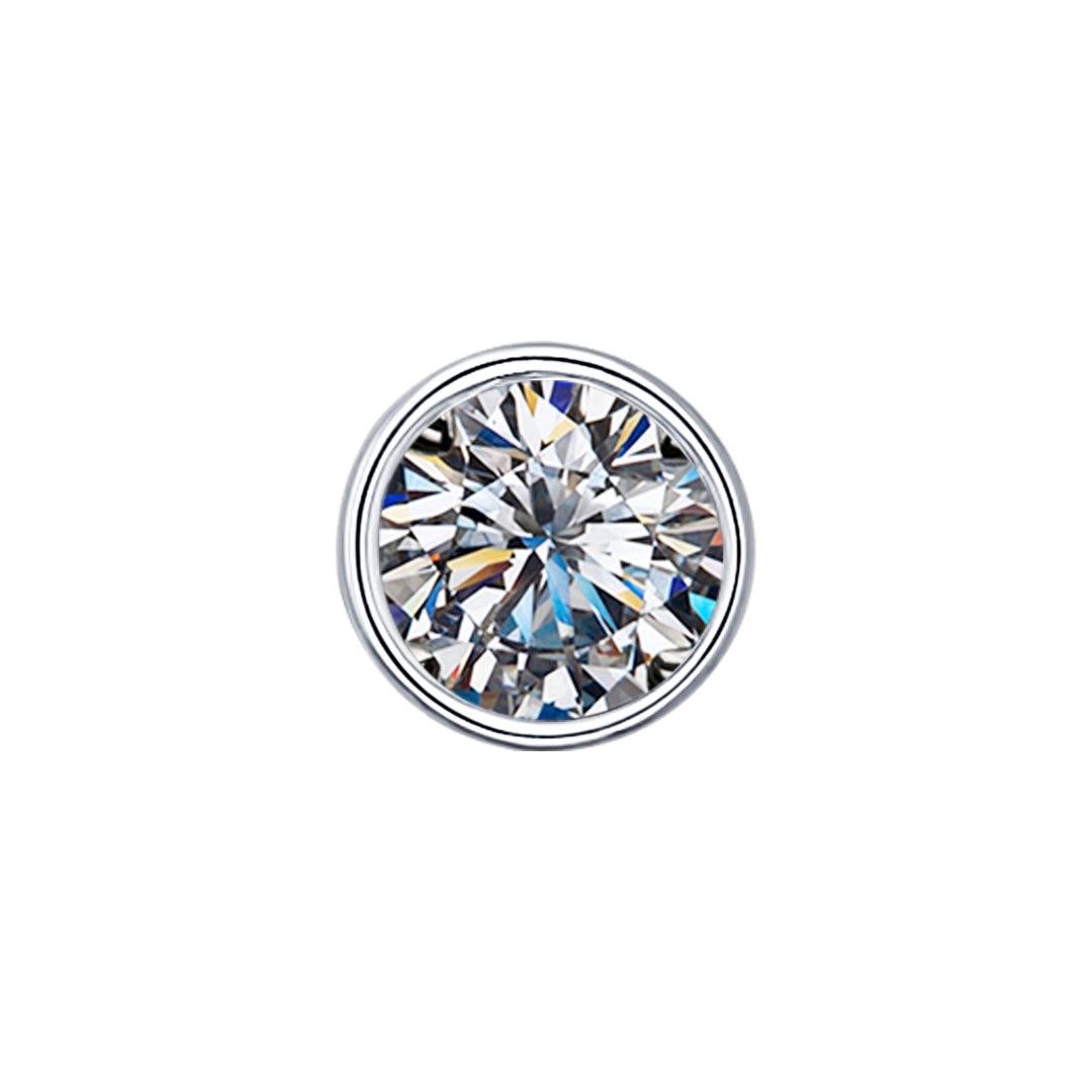 Pendant SOKOLOV Silver With Cubic Zirconia, Fashion Jewelry, 925, Women's Male, Pendants For Neck Women