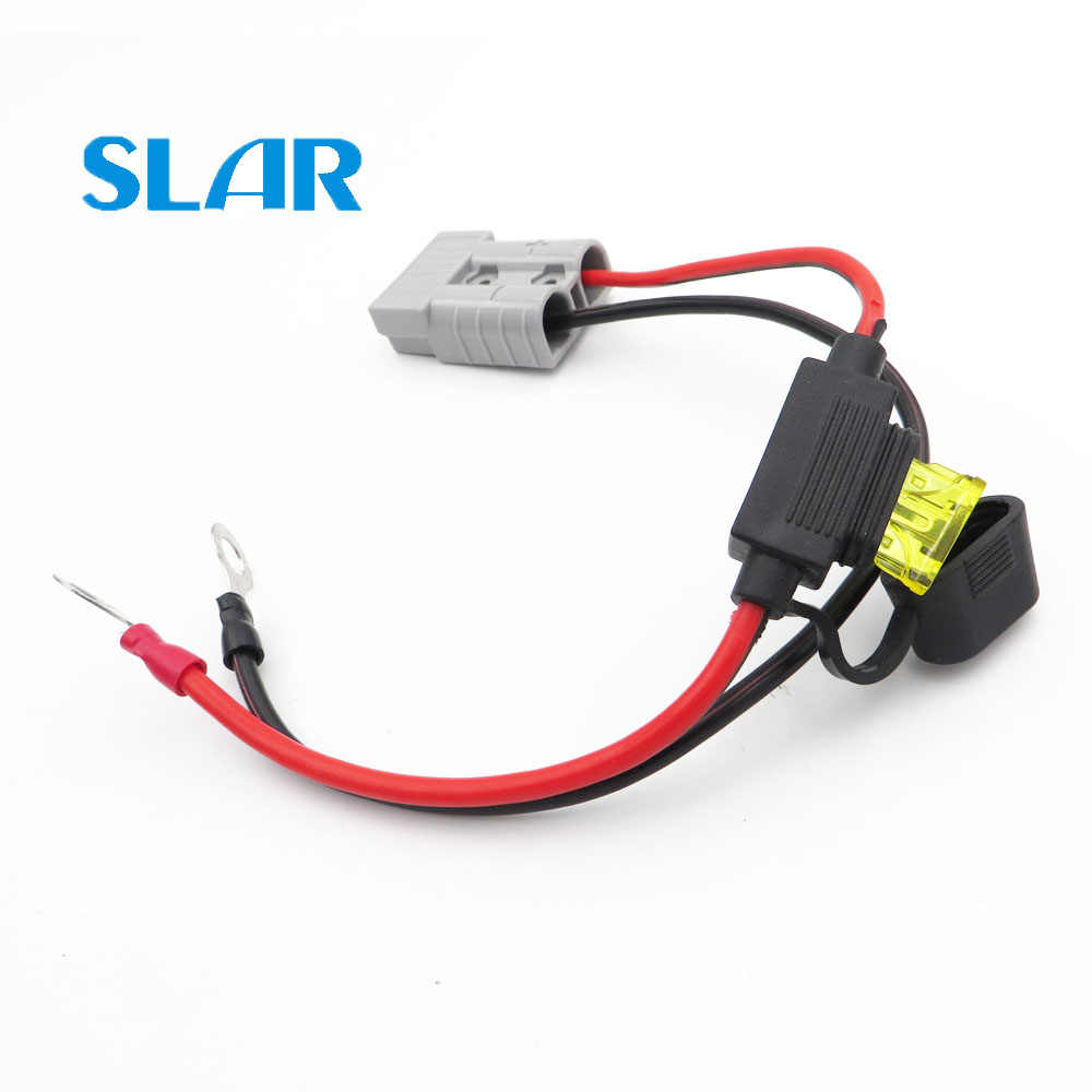 50A 600V SB50 Connector with 30cm 2.5mm2 solar cable 10A waterproof fuse for portabel solar panel