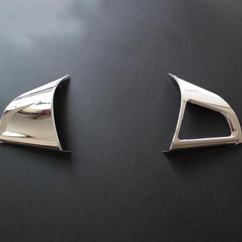 2pcs Car Steering Wheel Chrome Trim Cover Insert Sticker Accessories For Chevrolet Cruze image