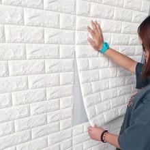 3D Brick Wall Stickers Living Waterproof Foam Room Bedroom DIY Adhesive Wallpaper Art home Wall Decals new quotes waterproof wall stickers wall art decor living room children room wall stickers waterproof wallpaper