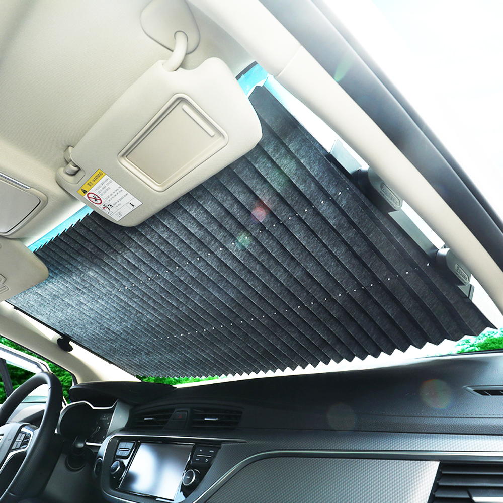New Design Car Windshield Sunshade Automatic Expansion Window Sunshade Sun Visor Protector Sun Shade  46CM/65CM/70CM/80CM