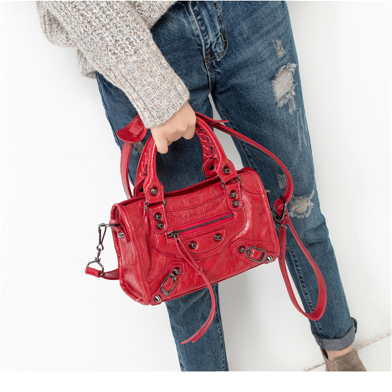 Luxury Designer Women Pu Leather Motorcycle Handbags High Quality Ladies Shoulder Bag Fashion Crossbody Messenger Bags For Women