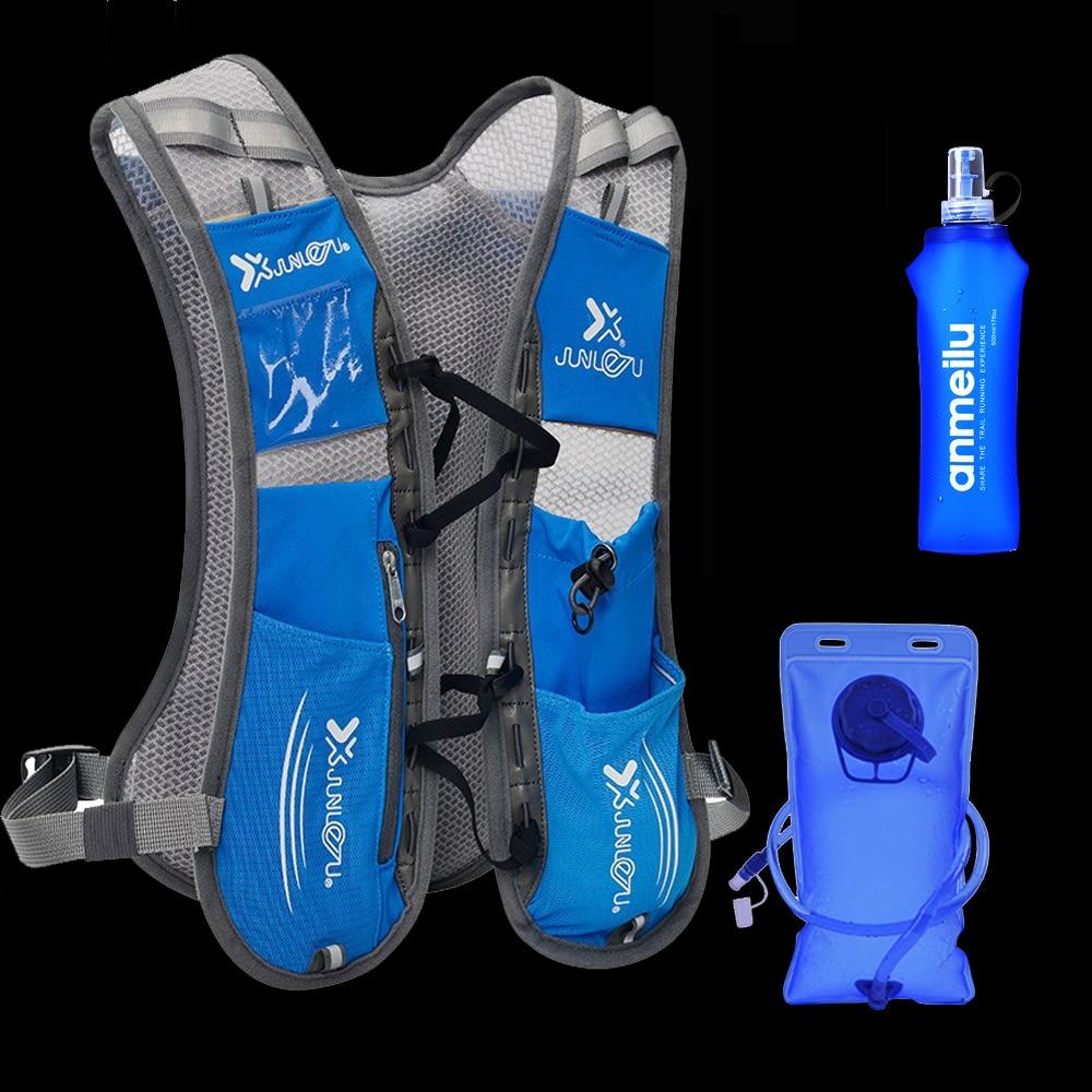 Sac à dos d'hydratation de course ultra-léger femmes hommes respirant Jogging Sport sac à dos de course sur piste sac de Marathon Option sac à eau
