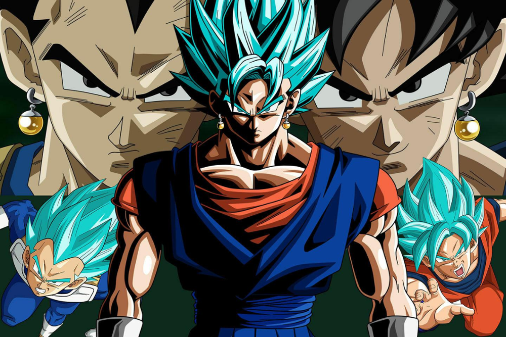Vegito Super Saiyan Blue Dragon Ball Super Custom New Silk Poster Wall Decor
