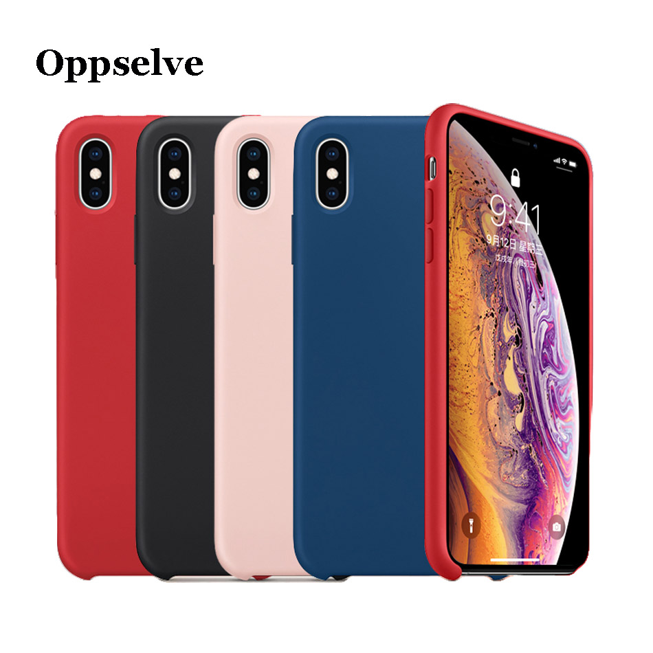 <font><b>Original</b></font> Liquid <font><b>Silicone</b></font> <font><b>Case</b></font> For <font><b>iPhone</b></font> 11 Pro XS Max XR X Luxury Microfiber Cover For <font><b>iPhone</b></font> <font><b>8</b></font> 7 6 6S Plus Capinhas Telefontok image