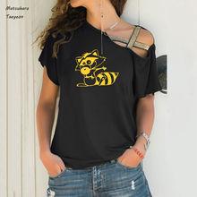 Футболка женская летняя с коротким рукавом милый рисунок модная