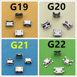 20 моделей Micro USB 5pin гнездовой разъем для мобильный телефон зарядки разъем SMT с разъемом Jack разъем Порты и разъёмы печатной платы Прямая доста...