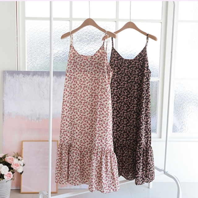 Oversized Loose Women Sleeveless Dress 2020 Summer Print Female Dress Hollow Out Suspender Dress Bohemian Brand Robe KE501 1