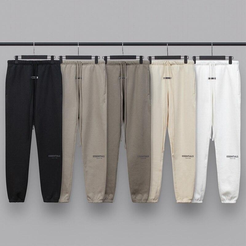 2020 nowe spodnie dresowe 100% 11 fog essentials kanye west jerry lorenzo luźne ovesized spodnie hip hop bawełniana bluza z kapturem spodnie