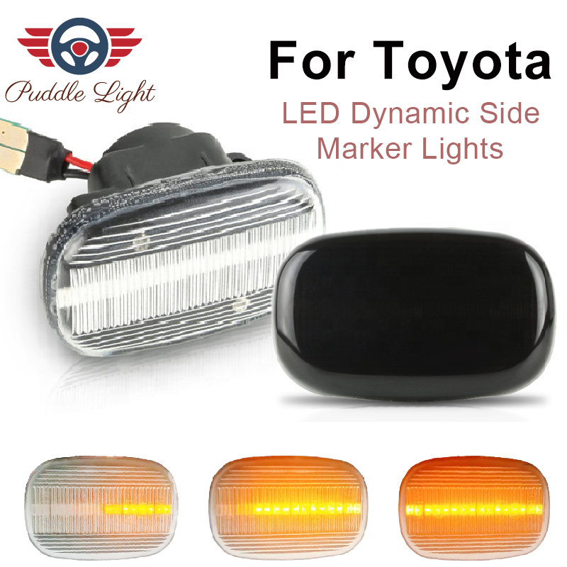 Led Dynamic Side Marker Turn Signal Light For Toyota Vios Camry Avensis Liteace RAV4 Lexus GS RX 300/330/350/450h Runx Corolla image
