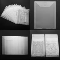 10pcs/set 18x24cm / 18x13cm Transparent Plastic Folder Bags For Storage Cutting Dies Stamps Embossing Folders Organizer Holders