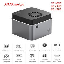 J4125 Windows 10 pro Mini PC intel J4125 bis zu 2,7 Ghz 8GB 128GB256GB 512GB 2.4/5G WIFI BT 4,0 1000Mbps SATA SSD Computer Vs GK55