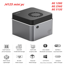 J4125 Windows 10 pro Mini PC intel J4125 bis zu 2,7 Ghz 8GB 128GB256GB 512GB 2.4/5G WIFI BT 4,0 1000Mbps SATA SSD Computer Vs GK55