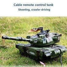M1A1 проводной пульт дистанционного управления танк и родитель-ребенок может запускать Детские внедорожные игрушки гусеничный мальчик автомобиль подарок