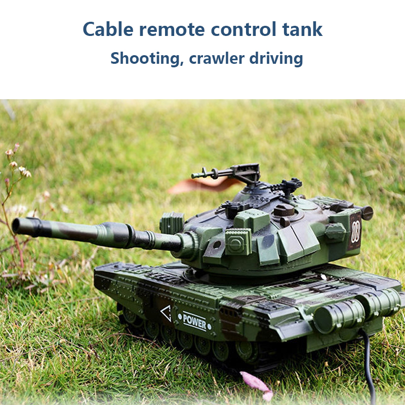 M1A1 Wired Remote Control Tank And Parent-Child Can Launch Children's Off-Road Toy Crawler Boy Car Gift