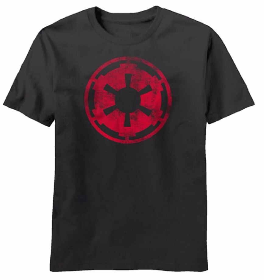 Star Wars Movie Aging Empire Symbol Licensed Adult T-Shirt Summer O-Neck Tops Tee Shirt image