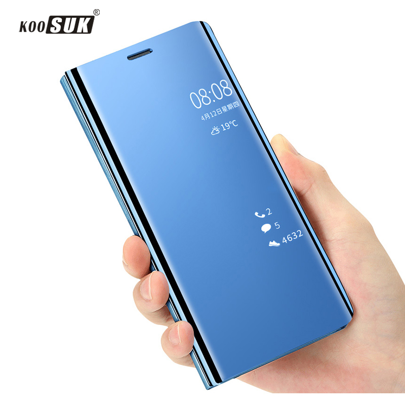Smart Mirror Clear View Flip Phone Casing For <font><b>VIVO</b></font> Y93 Lite Luxury Shockproof PU Leather Cover For <font><b>VIVO</b></font> <font><b>Y95</b></font> Y93 Y91 Coque image