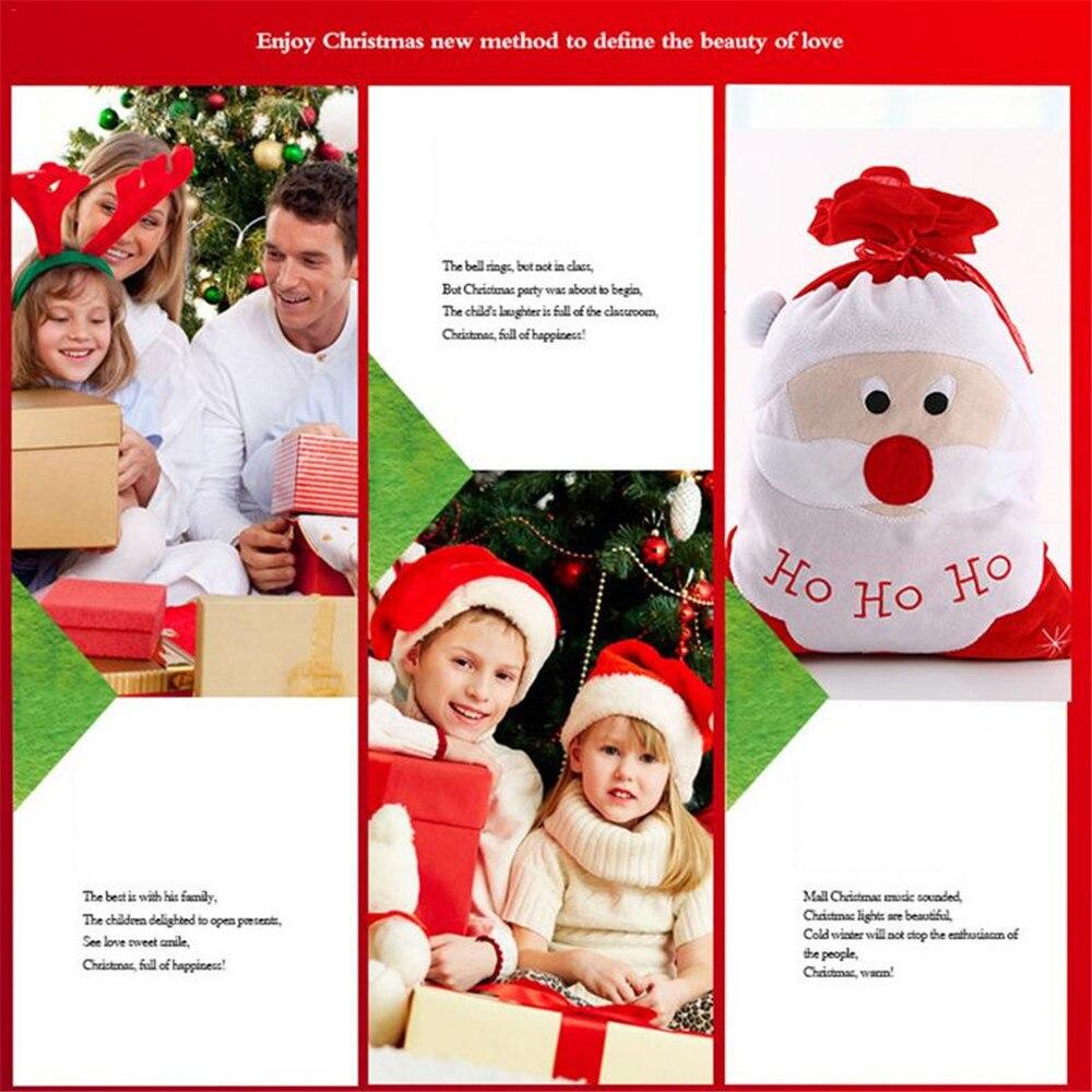 Navidad hogar Decoración navidad medias árbol de peluche colgando Santa Claus bolsas de dulces bolsas para regalos para navidad Dropship #