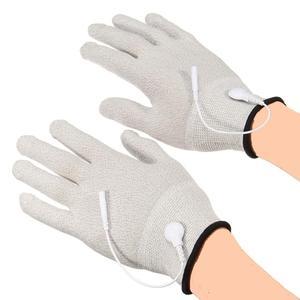 Image 2 - Guantes de electroterapia para adultos, masajeador de electrodos de fibra transpirable, conductor de choque eléctrico, guantes de terapia de fibra de plata, Juguetes sexuales para adultos