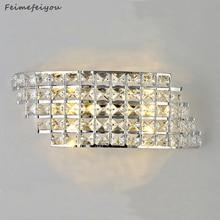 אור יוקרה מודרנית מינימליסטי LED מנורת קיר ליד המיטה מקורה קריסטל מנורת מעבר מנורת חדר שינה מסדרון מנורה