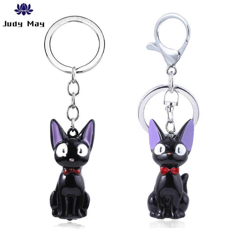 Cute Black Cat Jiji Keychain Anime Kiki S Delivery Service Kiki Cat 3d Mini Keychain Kids Toy Key Holder Trinket Collection Gift Aliexpress