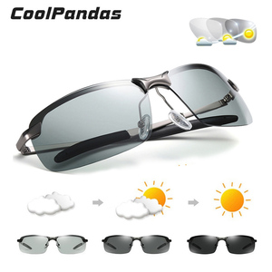 Image 1 - 2020 Nieuwe Mannen Fotochrome Gepolariseerde Zonnebril Uv Driving Eyewear Voor Mannen Vrouwen Drivers UV400 Zonnebril Mannelijke Bril