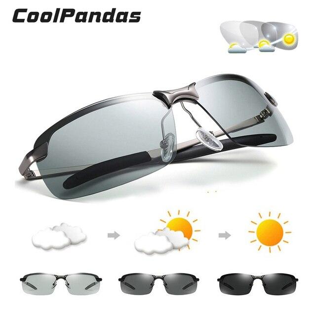 2020 Nieuwe Mannen Fotochrome Gepolariseerde Zonnebril Uv Driving Eyewear Voor Mannen Vrouwen Drivers UV400 Zonnebril Mannelijke Bril