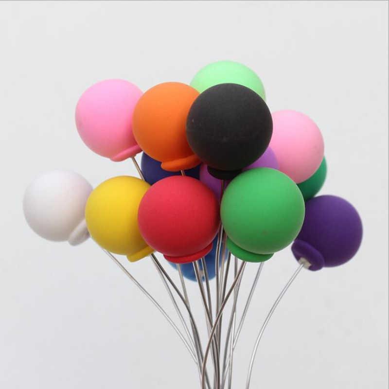 1 Pc Multicolor Mini Palloncino Baby Shower Cake Topper Del Ragazzo E Della Ragazza di Compleanno Del Bigné Top Bandiera Decorazione Argilla Artigianato per scherza Il Regalo