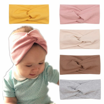Mommy Baby Solid Cross Knitted Headband For Girls Women Kids Twisted Elastic Hairband Turban Newborn Children Hair Accessories - discount item  5% OFF Kids Accessories